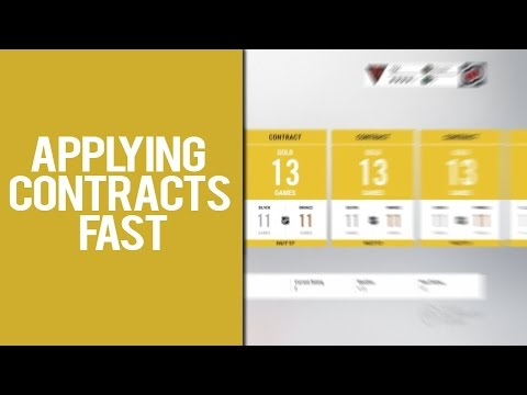 APPLYING CONTRACTS FAST IN NHL 17 (and what it means)