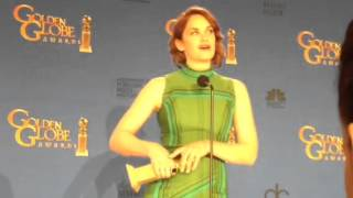 Ruth Wilson ('The Affair') backstage at Golden Globes