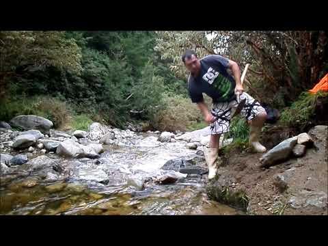 Gold  Prospecting Howard Louis Creek New Zealand