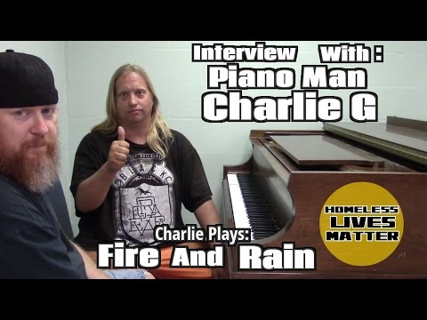 Fire and Rain played by Piano Man Charlie Gilmer at Trinity Cafe with Interview