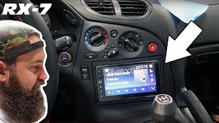 NEW HEAD UNIT FOR THE FD RX-7 (FULL INSTALL VIDEO)