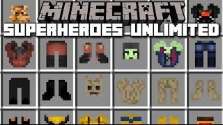 Minecraft SUPERHERO MOD / BECOME ANY MARVEL OR DC CHARACTER YOU WANT!! Minecraft
