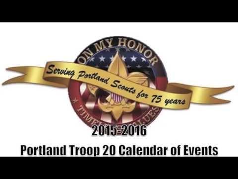Portland Texas Troop 20 Calendar of Events