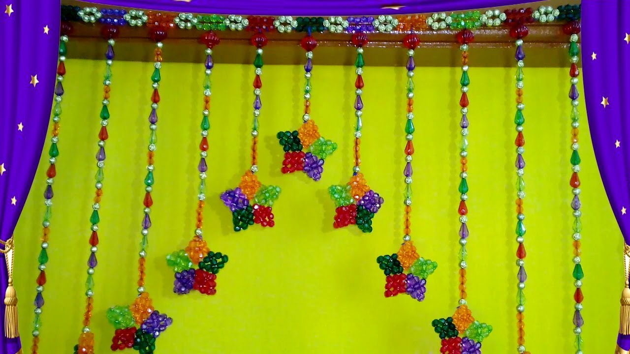 How To Make Door Hanging Toran At Home || Door/ Wall Hanging Decoration  With Stars