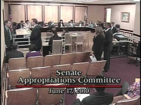 Senate Appropriations Committee 6/17/2010