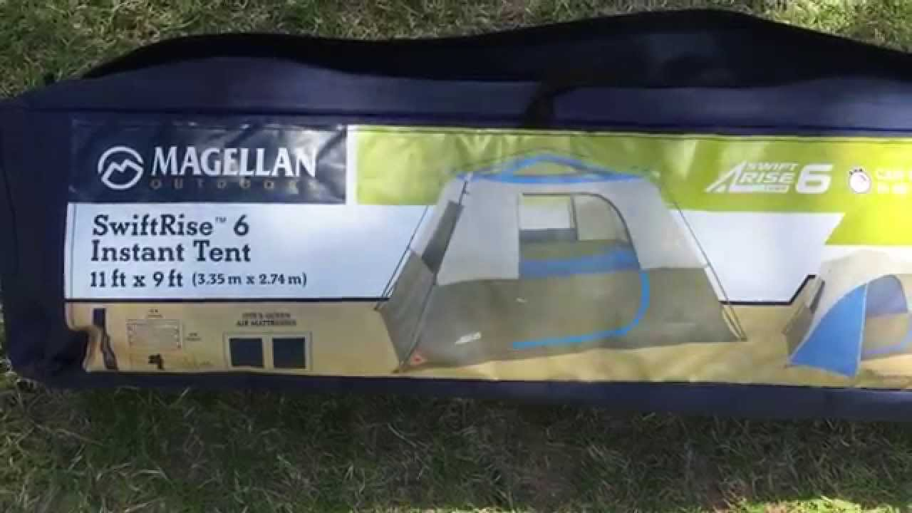 Magellan instant swift 6 MAN tent set up c&ing & Magellan instant swift 6 MAN tent set up camping - YouTube