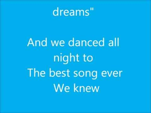 Best Song Ever- One Direction (With Lyrics)
