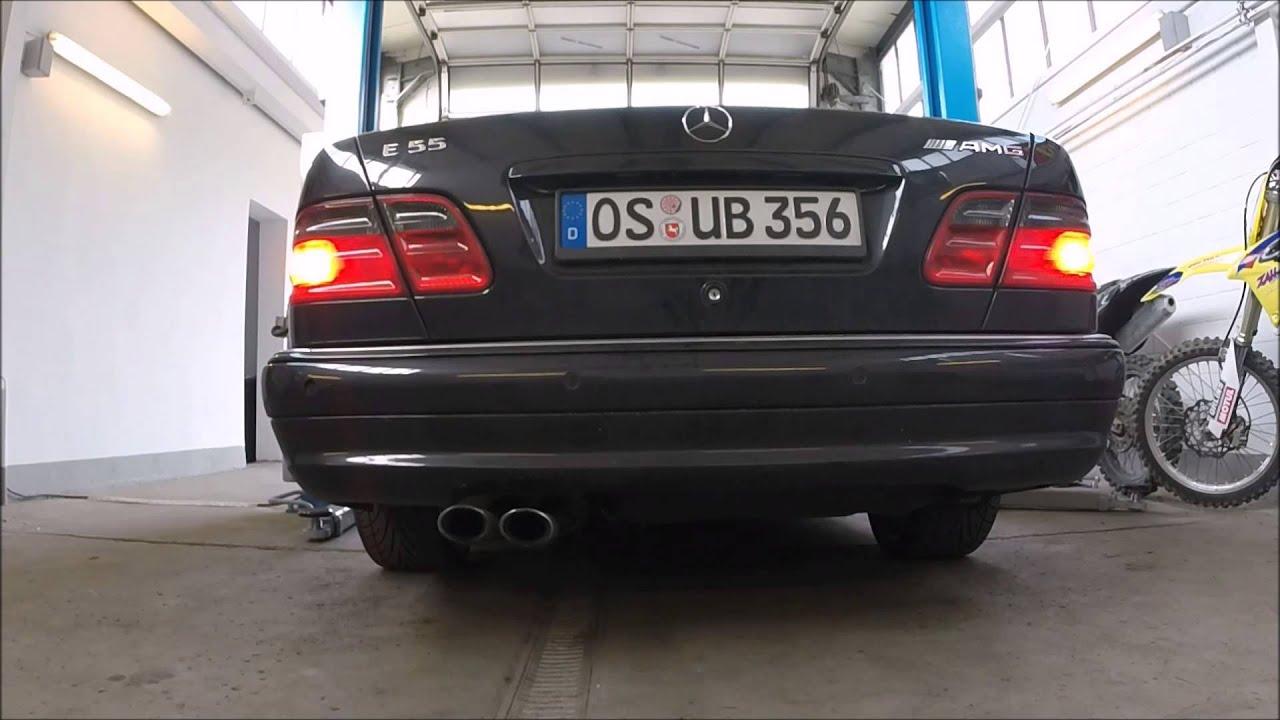 underground exhaust mercedes w210 e55 amg stage 3 sound - youtube