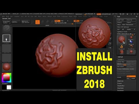How To Download and Install Zbrush  2018 in HINDI
