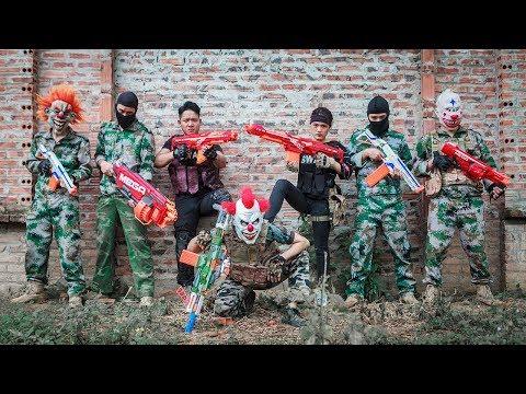 NERF WAR : Special Police SWAT Nerf Guns Fight Criminal Group Mask Fugitive Duty