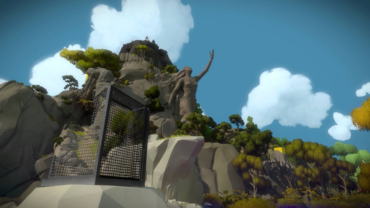 The Witness - Marsh / Swamp: Woman & Daughter Embrace Connecting Hands Statue Easter Egg? Sequence - YouTube
