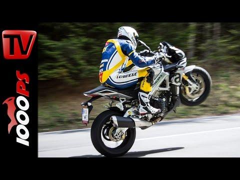Aprilia Tuono Test 2016 | Motorrad Quartett | Action, Onboard, Details Foto