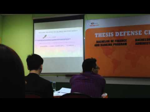 FU Spring 2015 Thesis Defense - Bachelor of finance and banking program.