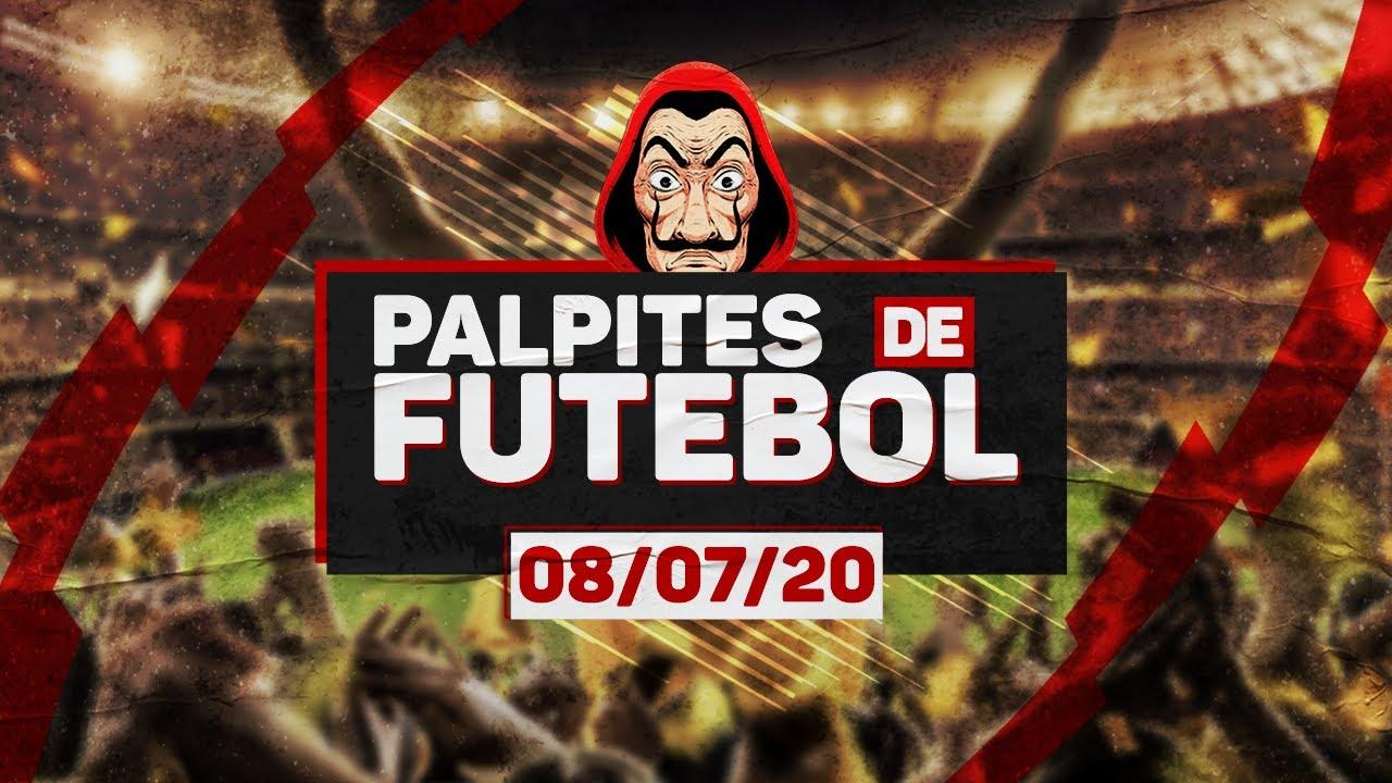 ⚽ PALPITES DE FUTEBOL PARA QUARTA-FEIRA DIA 08/07/2020