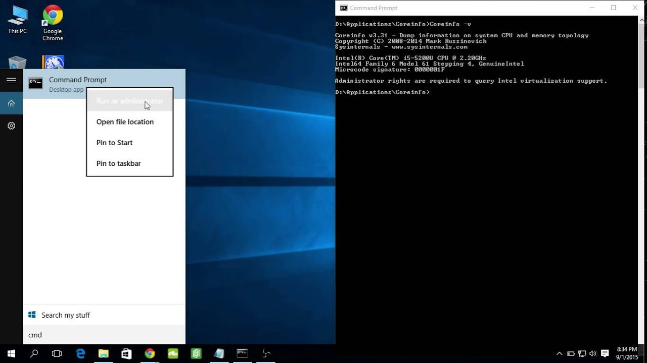 how to run cmd administrator in windows 8
