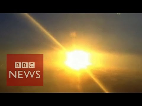 Pilot captures rocket explosion from the sky