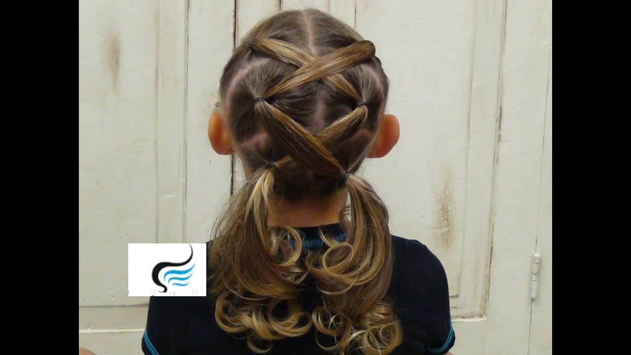 How To Do Crossed Pigtail Hairstyles Tutorial YouTube