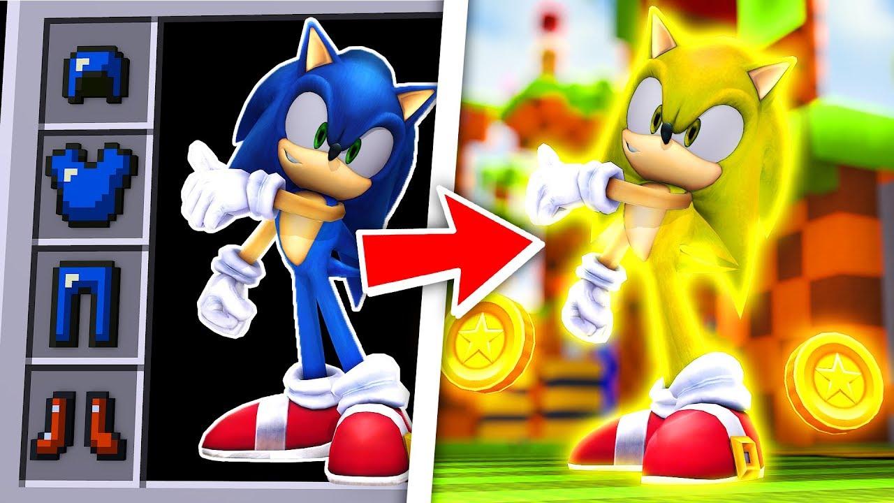 How To Become Super Sonic Minecraft Sonic The Hedgehog