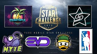 OFFICIAL ($600,000 PRIZE POOL) PUBG MOBILE STAR CHALLENGE TOURNAMENT SEMI-FINALS DAY 1
