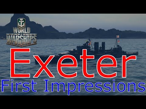 World of Warships- Exeter First Impressions