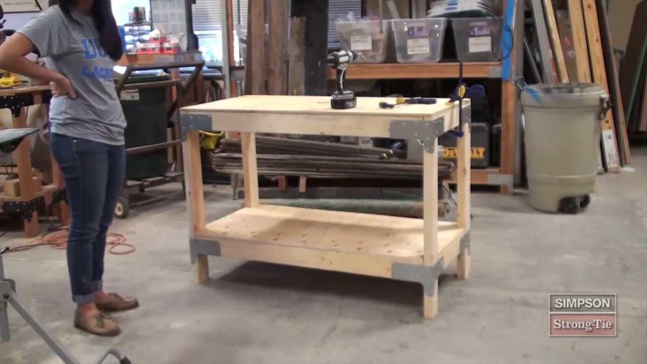 Easy to build workbench kit youtube for Build your garage online