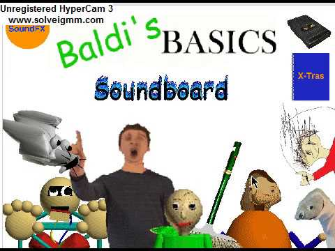 Baldi basics Soundboard Characters and sounds of the game PC scratch game
