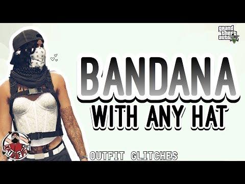 GTA5   *WORKING* Bandana with ANY HAT (Female & Male)