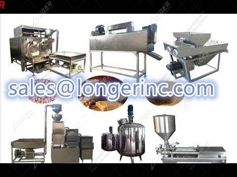 500-700kg/h Groundnut Paste Production Line|Peanut Paste Manufacturing Plant