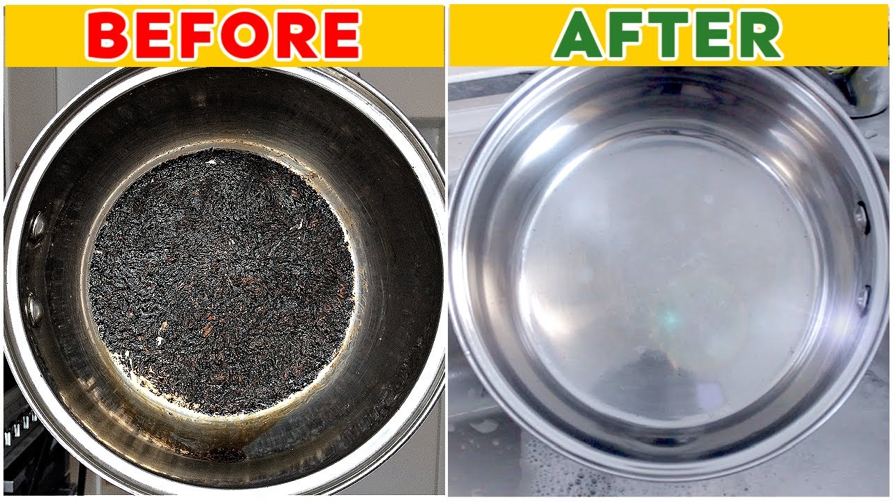 how to clean burnt pot without vinegar