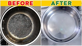The Best Way t๐ Clean a Burnt Pot Easily | Cleaning tips