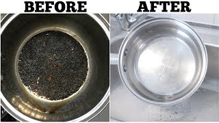 The Best Way to Clean a Burnt Pot Easily | Cleaning tips