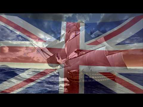 British Empire flag & patriotic music mix