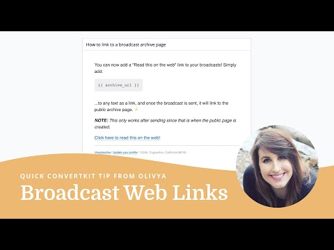 How to share a link to your broadcasts in ConvertKit