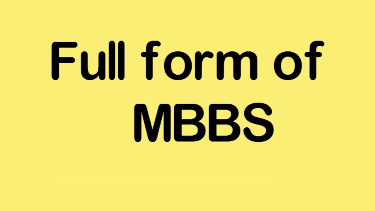 Full form of MBBS - YouTube
