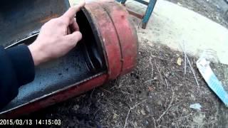 мангал из газового балона.  часть 1