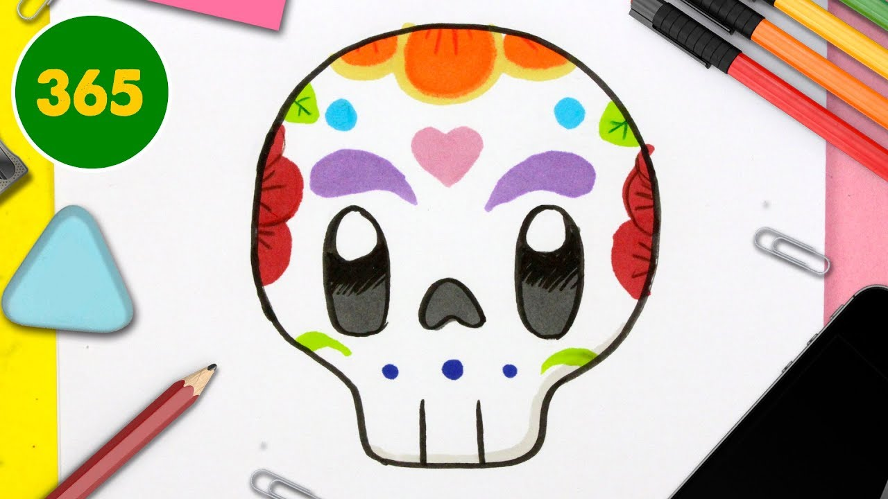 How To Draw A Cute Catrina Kawaii Special Halloween Video