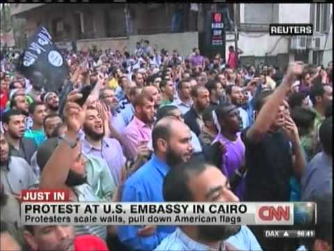 Protests at the US Embassy in Cairo September 11th 2012