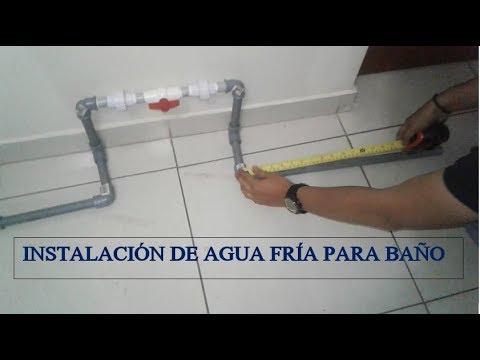 Instalaci n de agua fr a para ba o lavatorio inodoro for Ducha para lavatorio