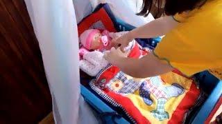 как сделать кровать для кукол беби бон быстро и легко