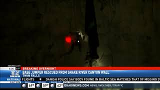 Twin Falls Base Jumper Rescued from Canyon Wall