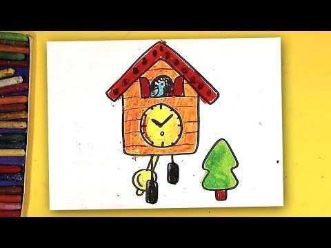 Как нарисовать старинные часы