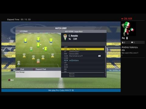FIFA 18 FIFA 17 Live PS4 Broadcast av22milano Channel