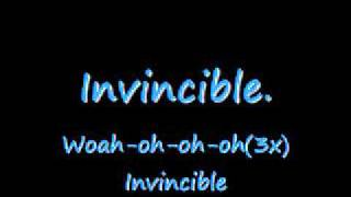 Invincible - Hedley With Lyrics