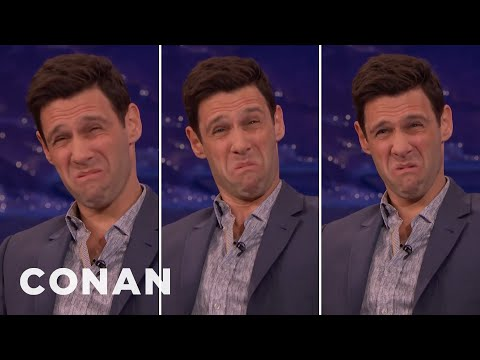 "Justin Bartha's ""De Niro Face""   CONAN on TBS"