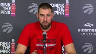 Raptors Practice: Jonas Valanciunas - April 19, 2016
