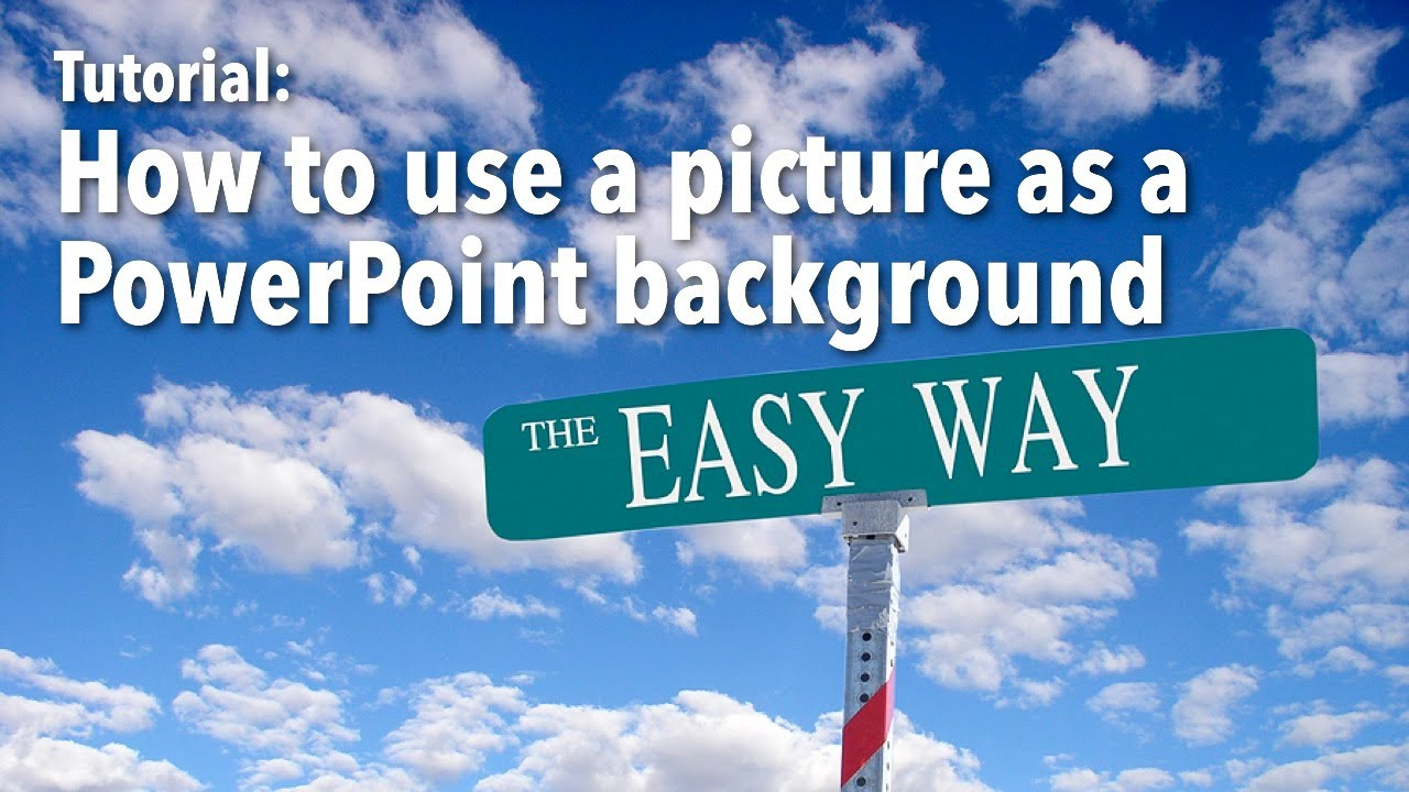 how to use pictures as a powerpoint background