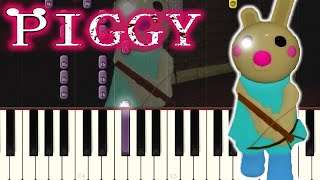 🎵 Piggy ROBLOX Bunny Soundtrack Song on PIANO