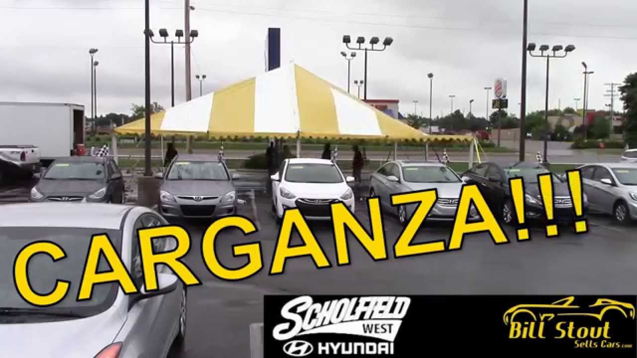 Carganza Tent Sale With Bill Stout At Scholfield Hyundai West In