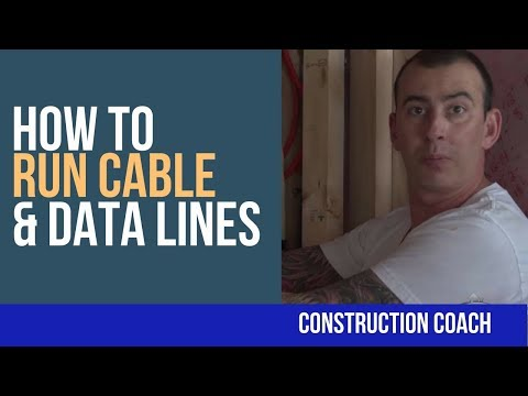 How to Run Cable & Data Lines - DIY