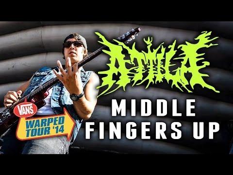"""Attila - """"Middle Fingers Up"""" LIVE! Vans Warped Tour 2014 (Sacramento, CA)"""